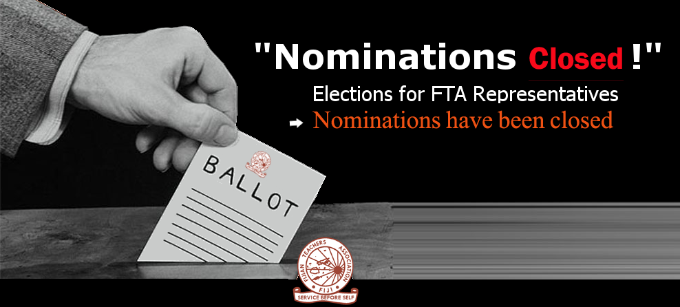 Nominations for FTA Closed